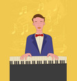 naive art of a pianist vector image vector image