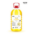 natural extra virgin sunflower oil plastic bottle vector image