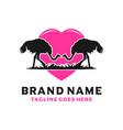 ostrich love design template - silhouette vector image