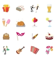 Party Icons set cartoon style vector image vector image