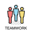 peolple icon for teamwork on white background vector image vector image