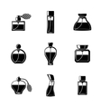 Perfume icons set with different shapes of bottles vector image vector image