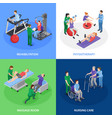 physiotherapy rehabilitation isometric concept vector image vector image