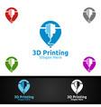 pin locator 3d printing company logo design