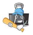 playing baseball binder clip in the character vector image vector image