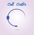 Polygonal icon for call center or hotline support vector image vector image