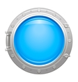 Porthole icon with silver metalic porthole and vector image vector image