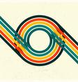 retro grunge circle lines vector image