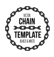 ring shape chain emblem black and white vector image vector image