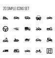 set of 20 editable transport icons includes vector image