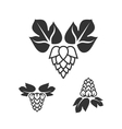 Set of hop icons vector image vector image