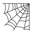 spiderweb simple web black line cobweb icon vector image vector image