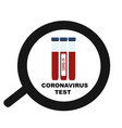 test coronavirus pandemic sign patients blood vector image vector image