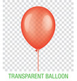 transparent red ballon vector image