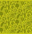 vegetable green seamless background vector image vector image