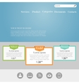 Web site design template vector image