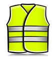 yellow vest isolated cartoon vector image vector image