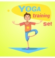 Yoga Training Set vector image vector image