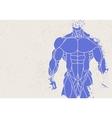 silhouette of a mans torso vector image