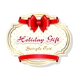 Holiday gift card template vector image