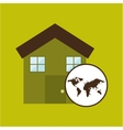 map earth environment ecological green house vector image