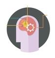 head with gear icon vector image