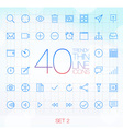 40 Trendy Thin Icons for web and mobile Set 2