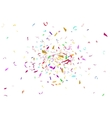 Abstract colorful confetti background Isolated on vector image