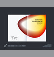 abstract double-page brochure design fluid style vector image