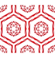 abstract red rose tile pattern vector image