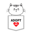adopt me cat sitting in the pocket red heart vector image vector image