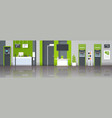 atm money automatic teller machine cash desk vector image vector image