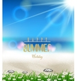 beach summer background with grass vector image vector image