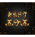 best mom gold sign on black background vector image vector image
