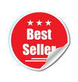 best seller sticker isolated background stylish vector image vector image