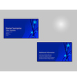 Blue Business card layout with blue stars on vector image vector image