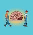 brain bear repair vector image vector image