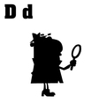 Cartoon detective with letter vector image vector image