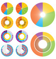 circle charts low vector image