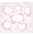 Collection of pink tags vector image