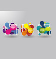 colored signs from bubbles and frames in abstract vector image vector image