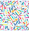 colored strips geometric seamless pattern with vector image vector image
