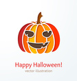 Colorful cutout smiling pumpkin vector image vector image