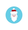 Colorful Icon Santa Claus Face Merry Christmas vector image vector image