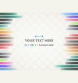 colorful stripe lines patterns background with vector image vector image