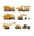 construction machine set vector image vector image