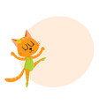 cute little cat kitten character ballet dancer vector image vector image