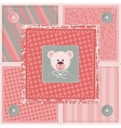 Cute Quilt Background vector image vector image