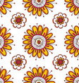 Cute seamless pattern with floral elements vector image vector image
