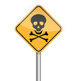 danger skull pole warning sign symbol design on vector image